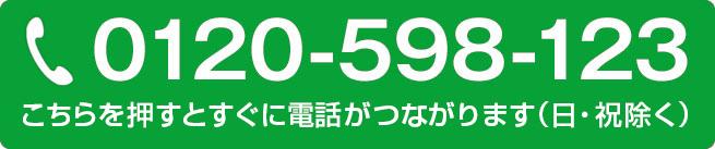 フリーダイヤル 0120-598-123